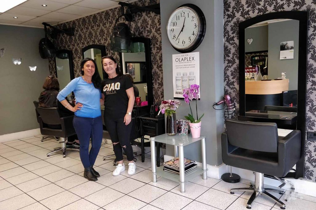 Managers of New Image hairdressing salon on Old Ford Road