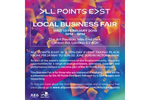 Flyer for the All Points East business fair