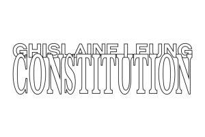 Constitution exhibition poster Ghislaine Leung