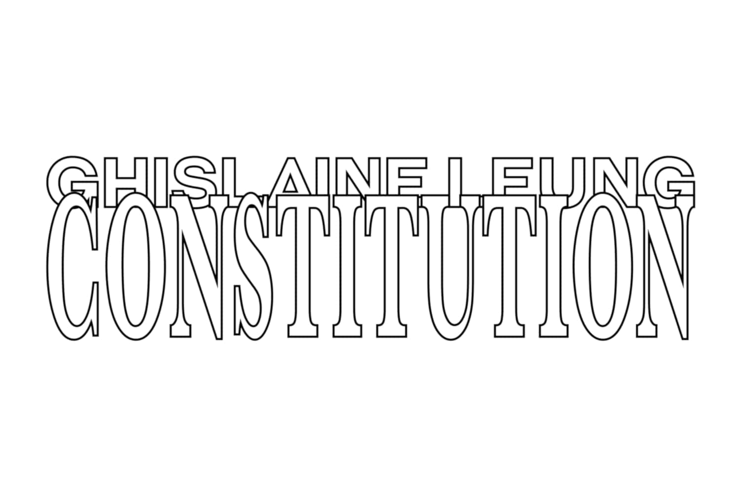 Constitution exhibition poster Ghislaine Leung