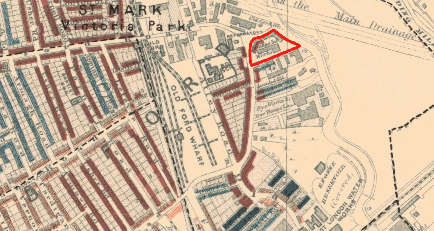 Kidd & Co on Booth poverty map marked