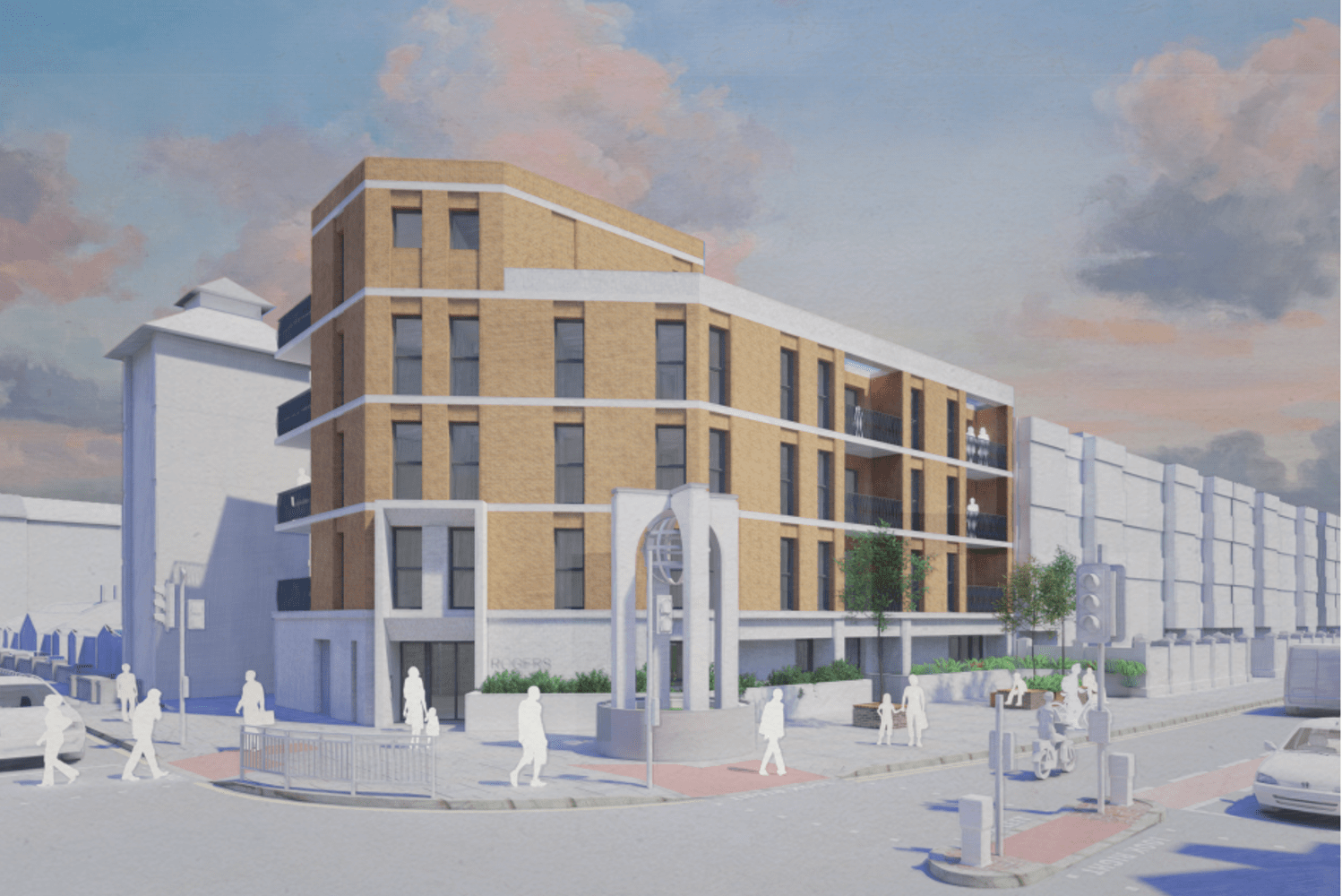 Rendering of Keats House car park development proposal