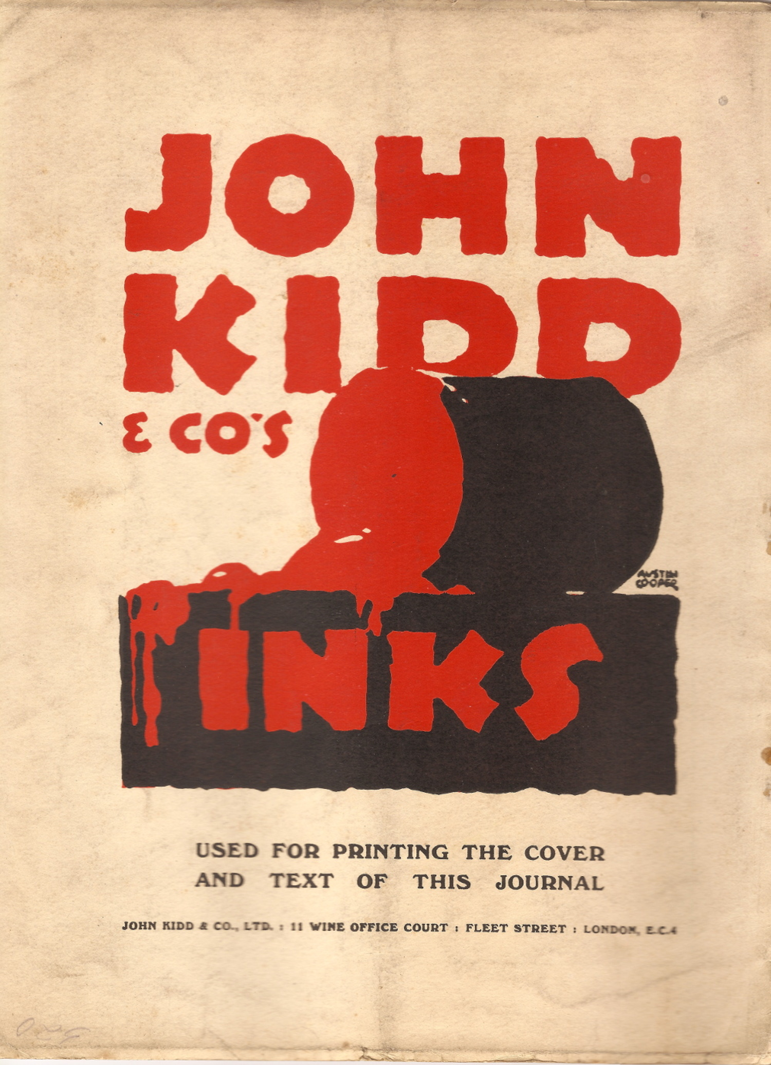 Kidd & Co sample from 'Commercial Art' magazine