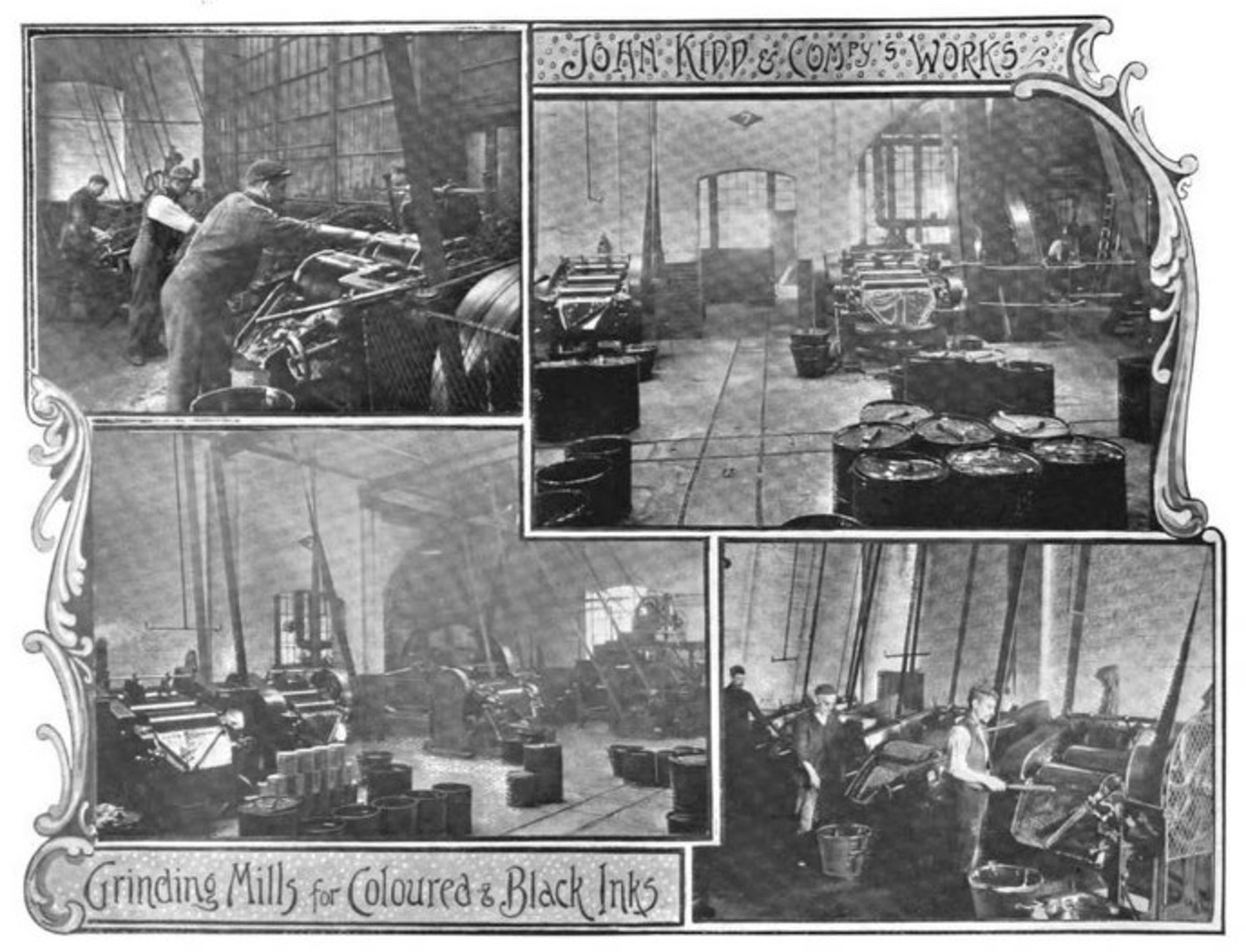 Images of Kidd & Co ink works on Fish Island, 1899