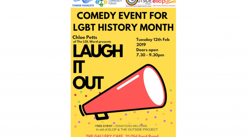 LGBT Laugh it Out comedy night poster