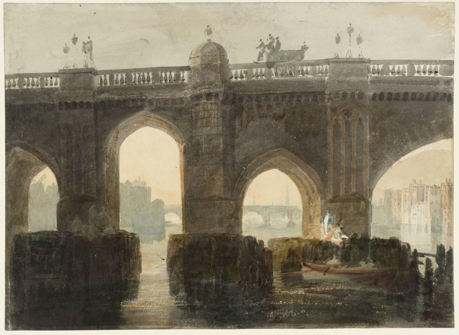 'Old London Bridge' by Joseph Mallord William Turner