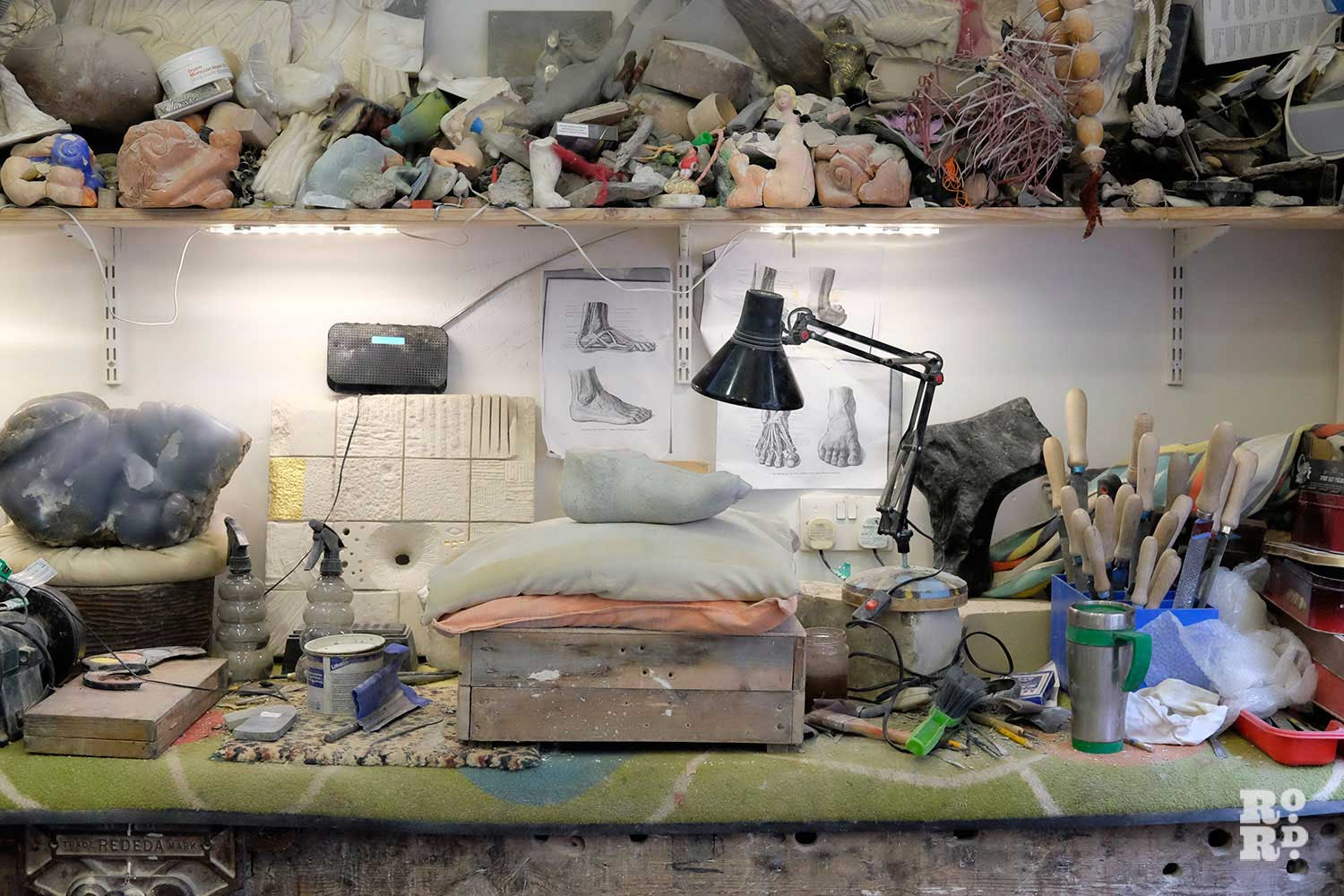 Paula Haughney's workspace