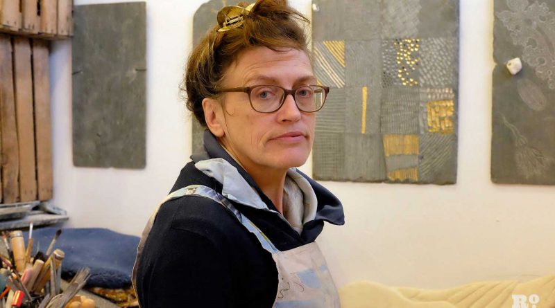 Paula Haughney in her Bromley by Bow studio