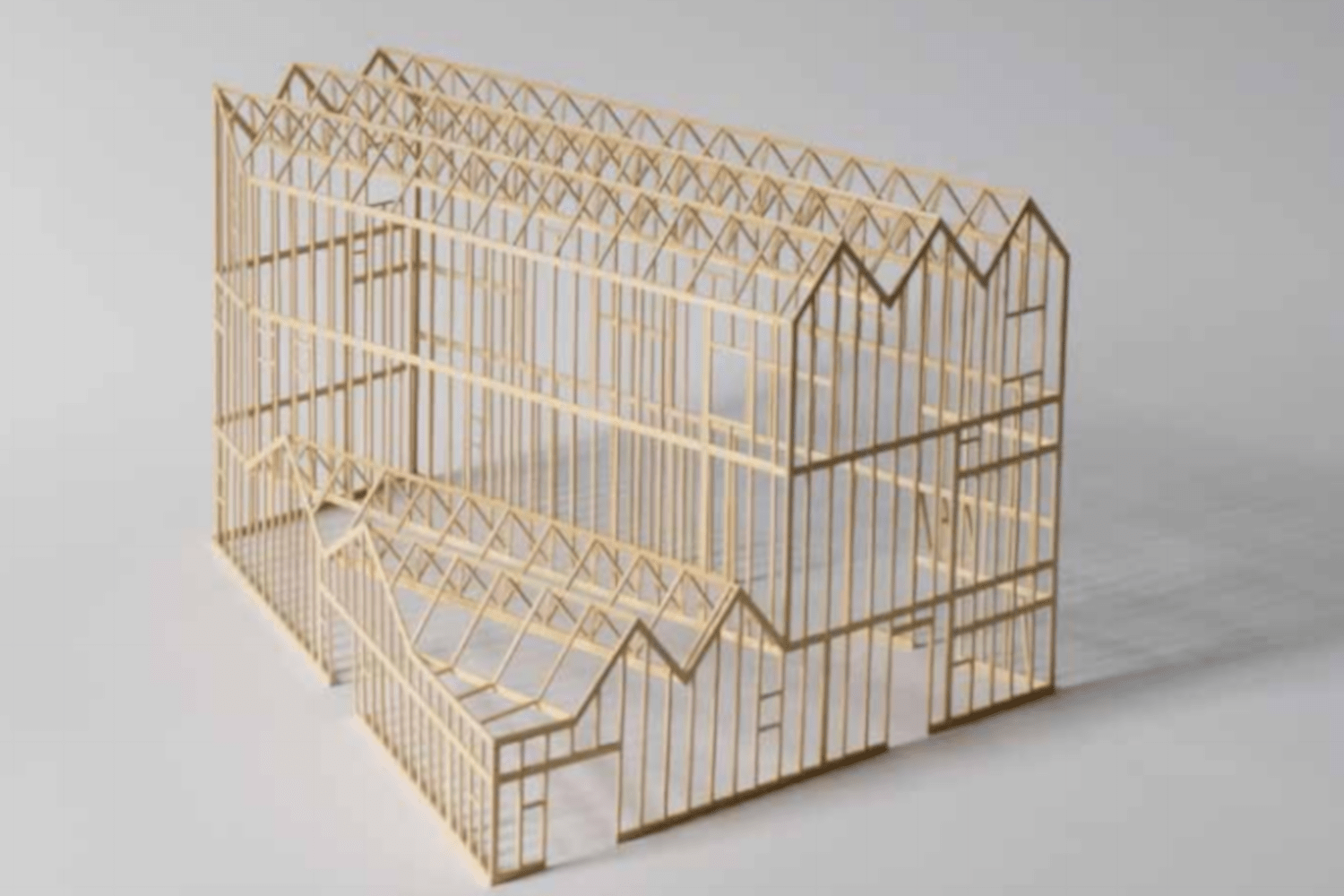 Photo of a model of the building design