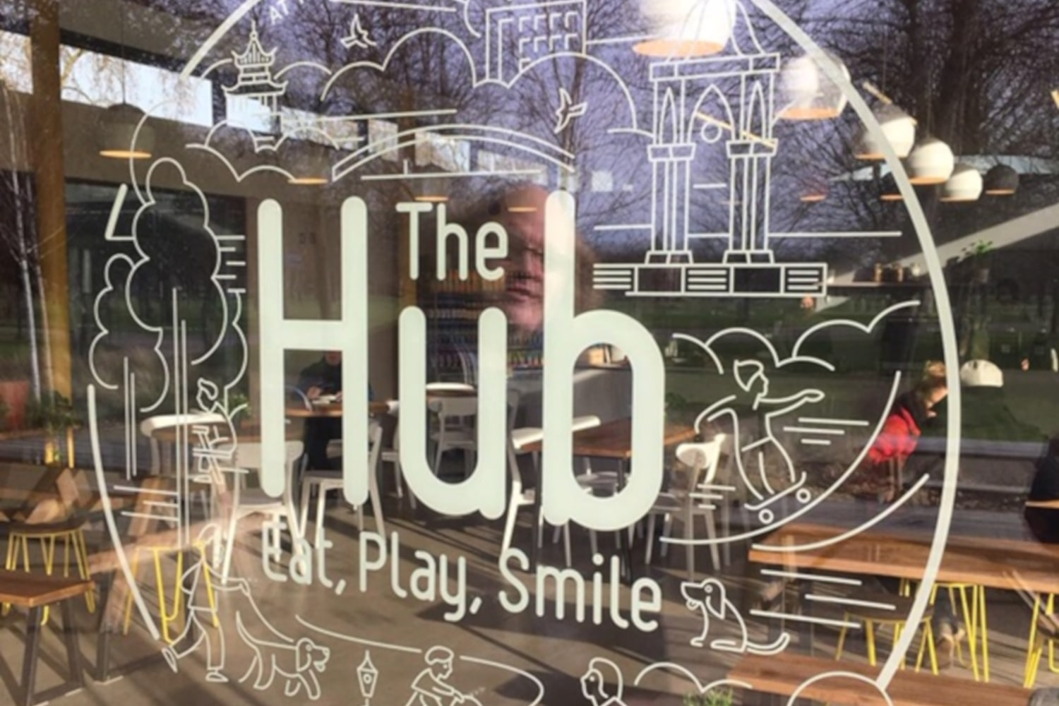 The Hub sign in Victoria Park