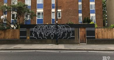 Street art on Roman Road replacing Emergency Coins in April 2019