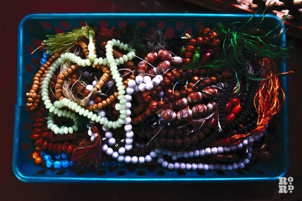 Prayer beads at the Bow Muslim Community Centre