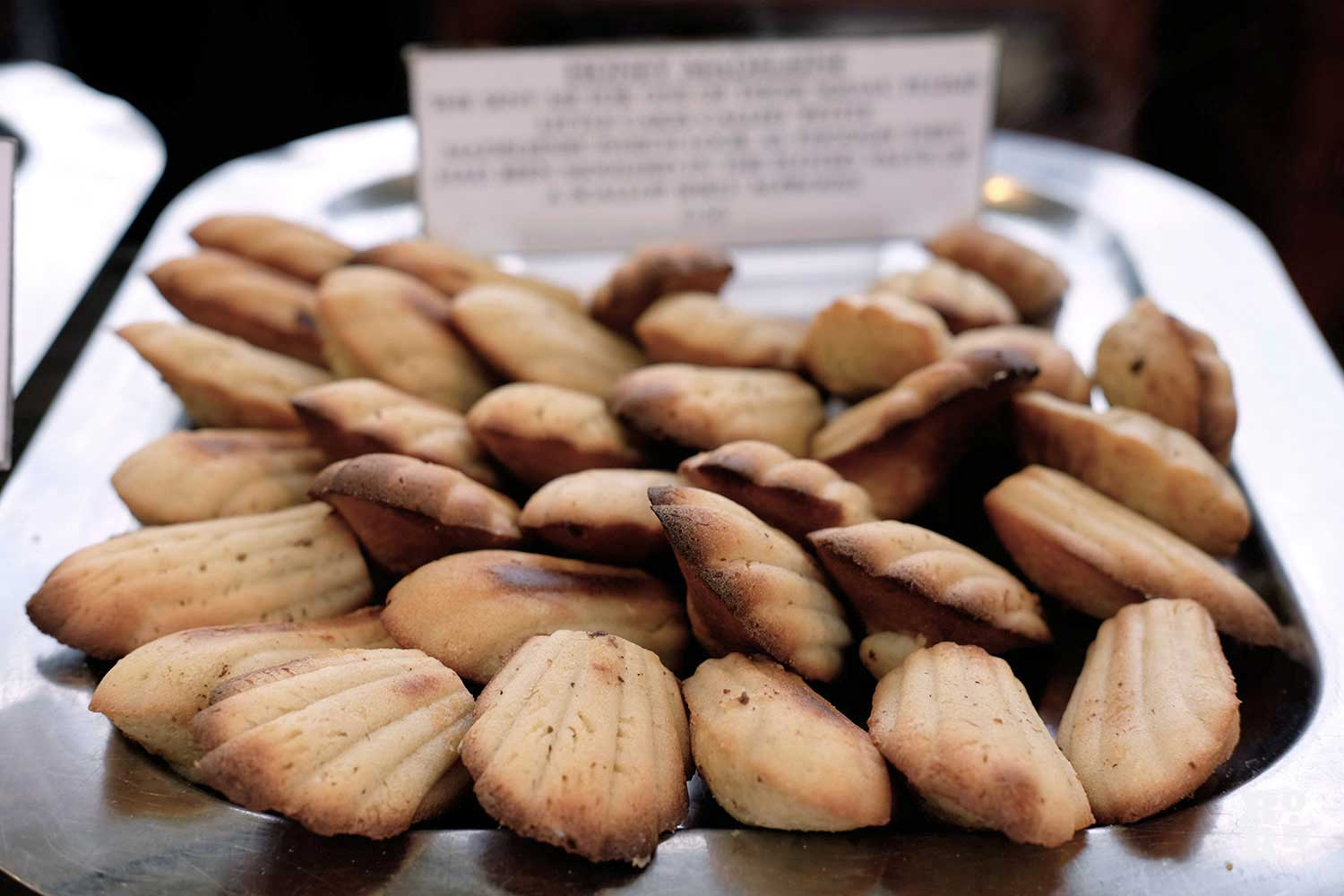 Madeleines at the Saint Sugar of London stall on Roman Road