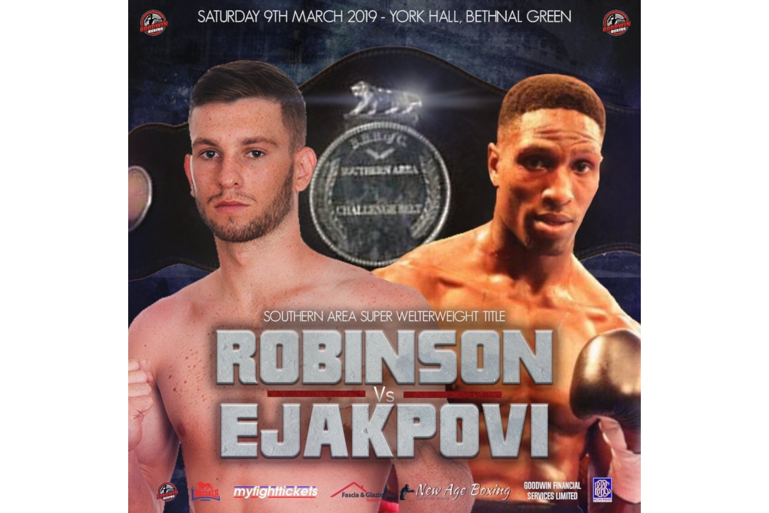 York Hall Robinson vs Ejakpovi poster