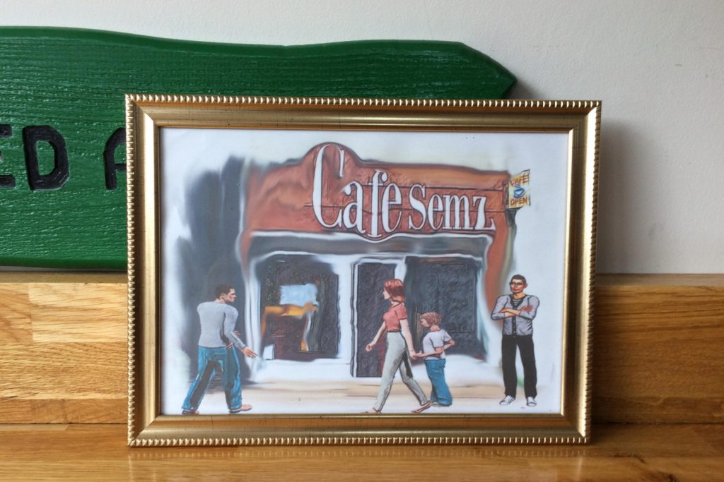 Cafe Semz Mysterious Artwork Roman Road