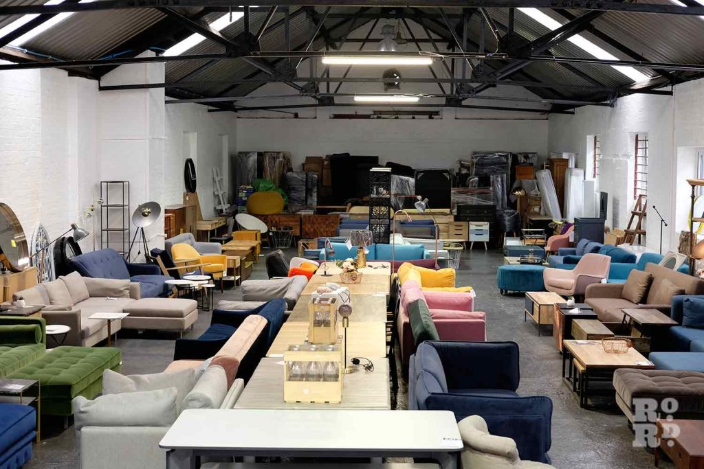 Warehouse of affordable, contemporary furniture, at Lofty's Furniture, Wick Lane