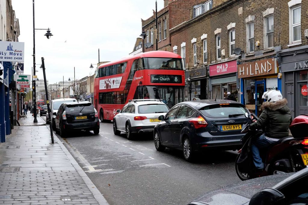 Congestion and the number 8 bus on Roman Road