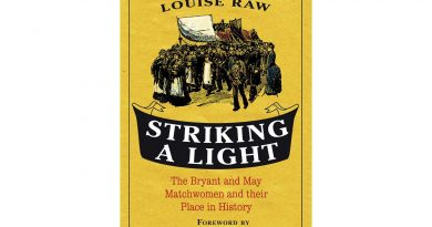 Striking a Light by Louise Raw, book cover.