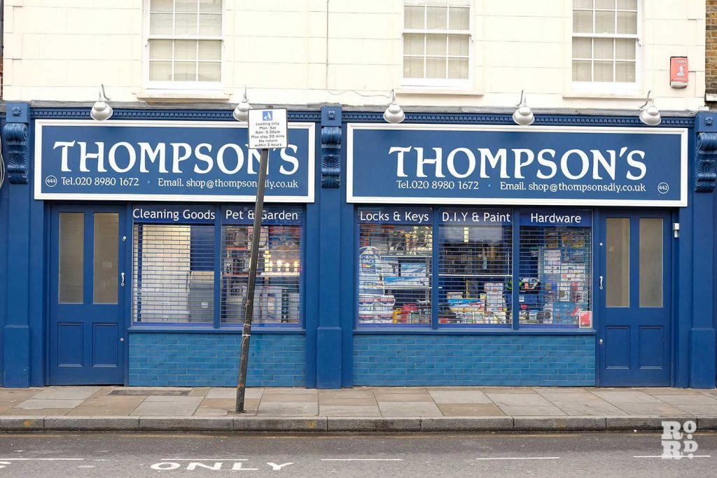 Thompsons hardware store roman road