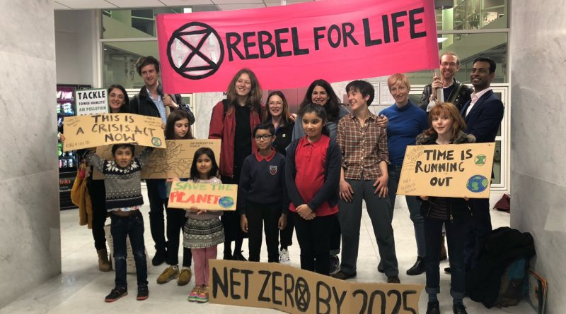 Members of Extinction Rebellion at the Tower Hamlets council meeting