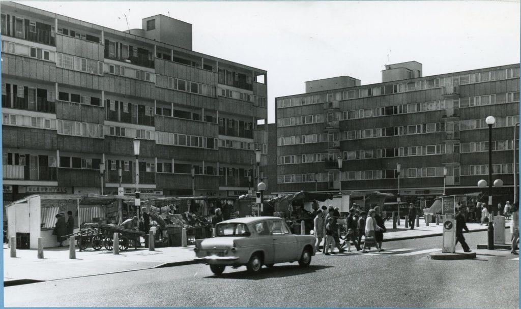 Globe Town Market Square in 1968