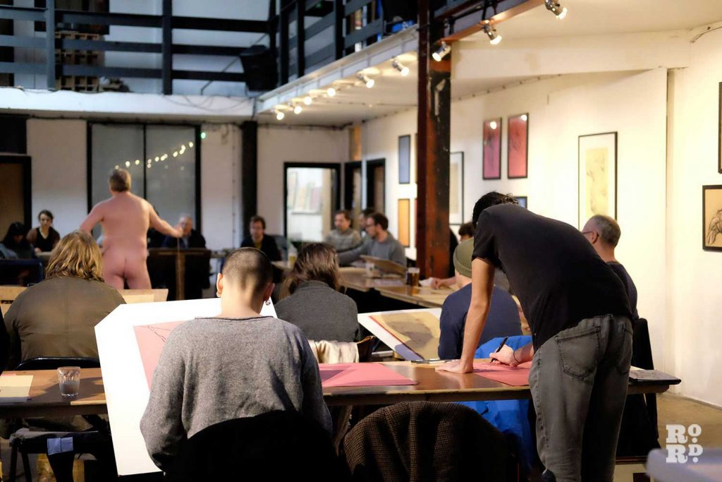 A Hackney Wick Life Drawing session at Stour Space