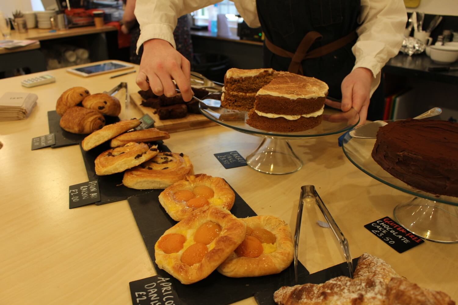 Cakes and pastries at the Nunnery Cafe