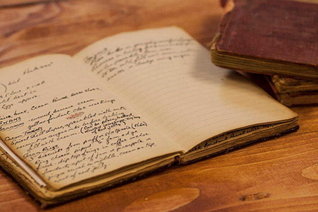 Percy Ingle's original recipe book