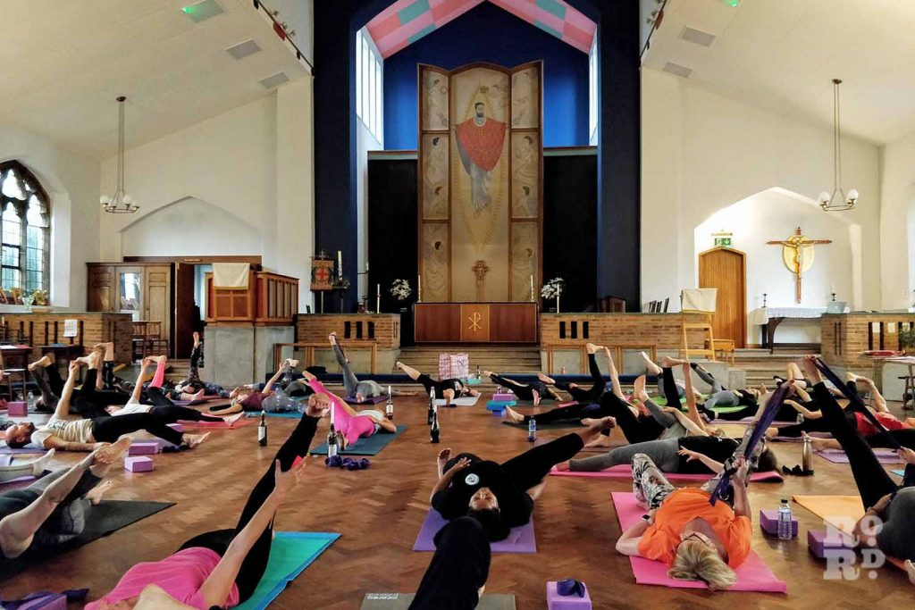 Gemma teaches YogaGem in St Barnabas Church