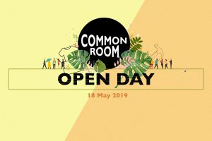 Common Room flyer for Open Day in summer 2019