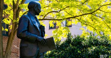 Statue of Clement Attlee outside Queen Mary University London