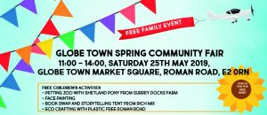 Globe Town Community Spring Fair May 2019 poster
