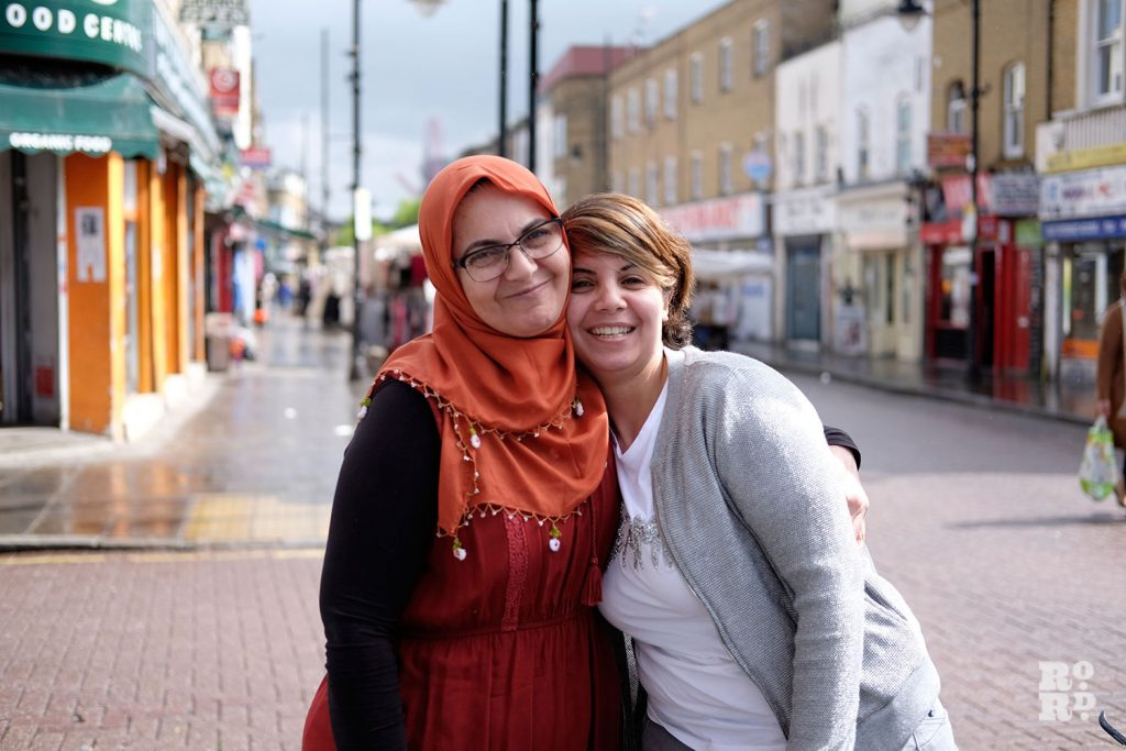 Hamiyet and Dilek Alpetkin in Bow, East London
