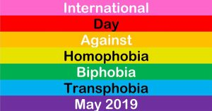 International Day Against Homophobia Biphobia and Transphobia May 2019 flag