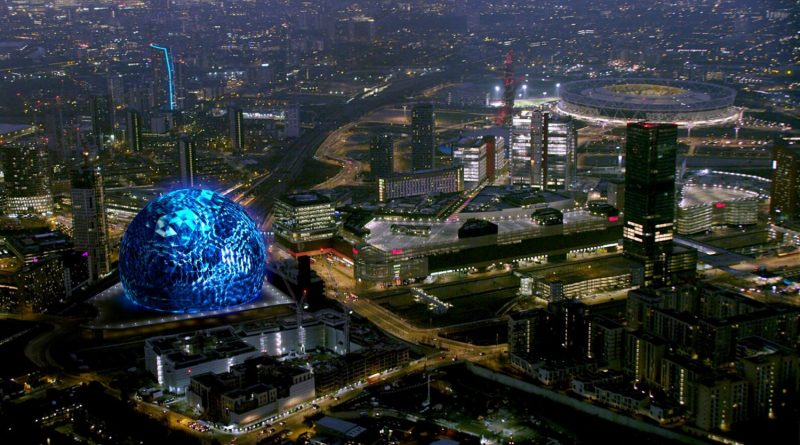 Artist's impression of the MSG Sphere in Stratford