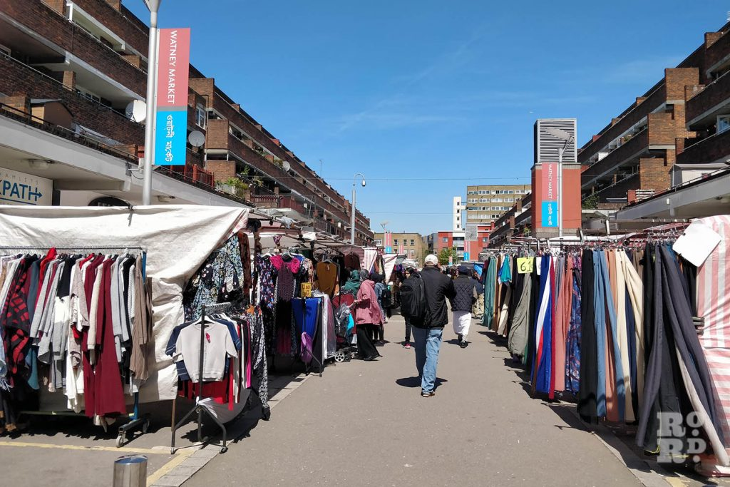 A central view of Watney Market, East London