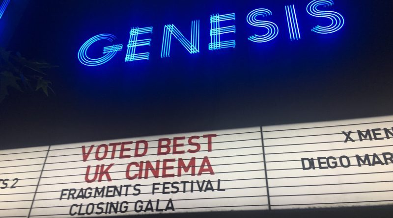 Exterior of Genesis Cinema on the final Fragments Festival night