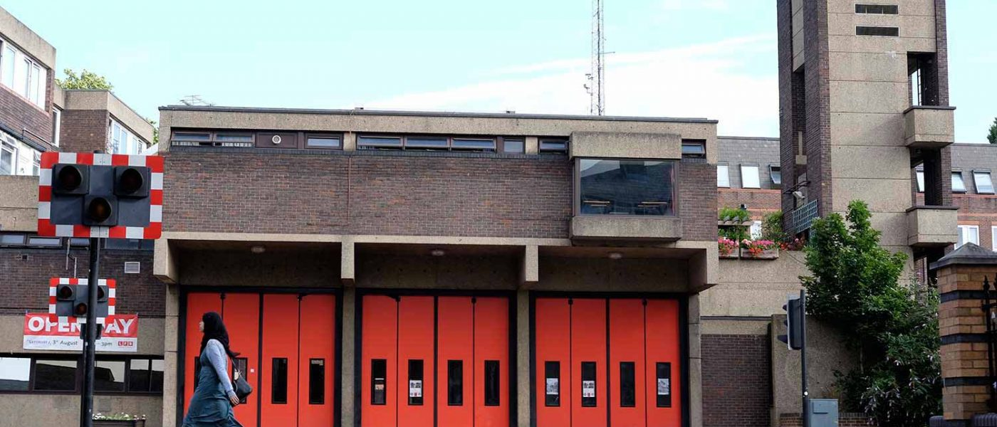 Behind the red doors of Bethnal Green Fire Station