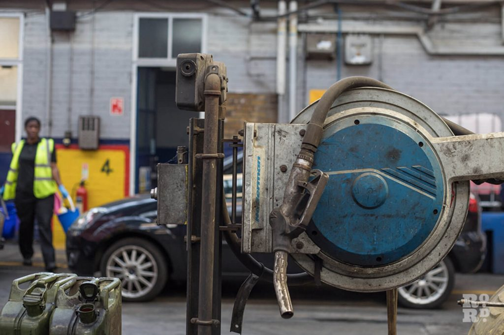 Fuel pump for the buses at Bow Garage