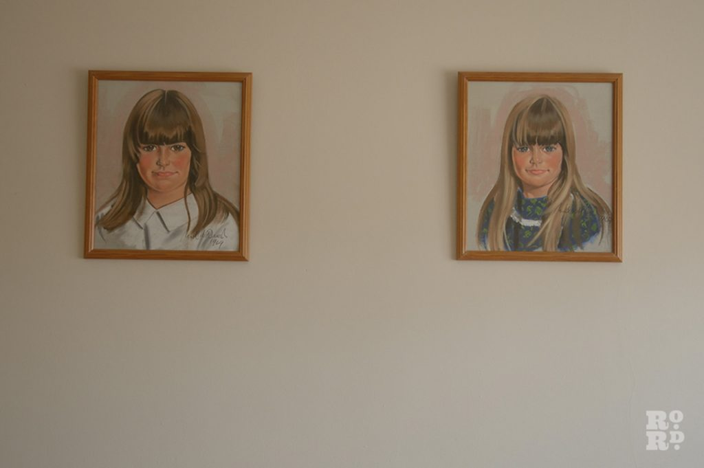 Two portraits of young girls