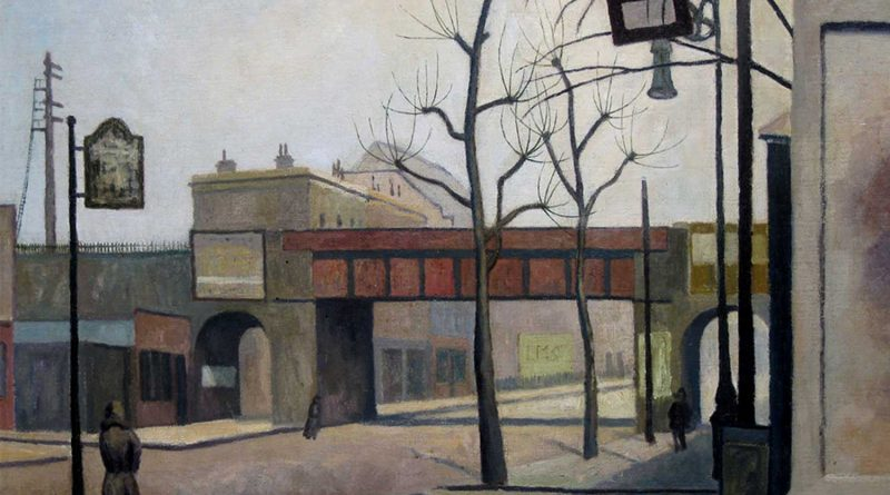 Painting of Bow Road by Elwin Hawthorne