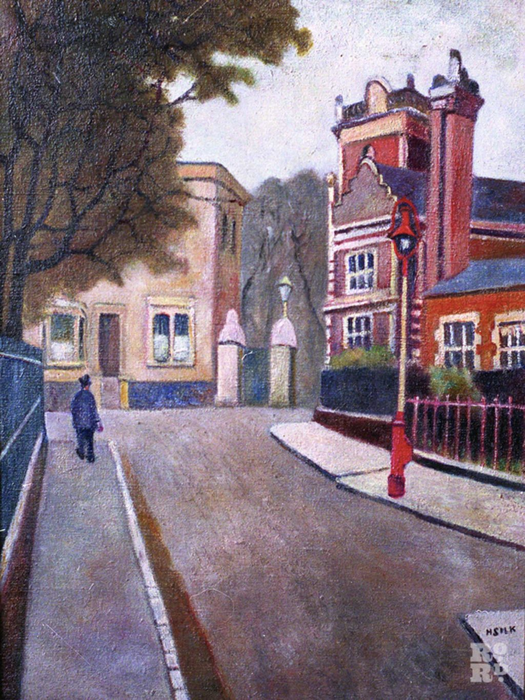 Painting of James Road by Henry Silk of the East London Group