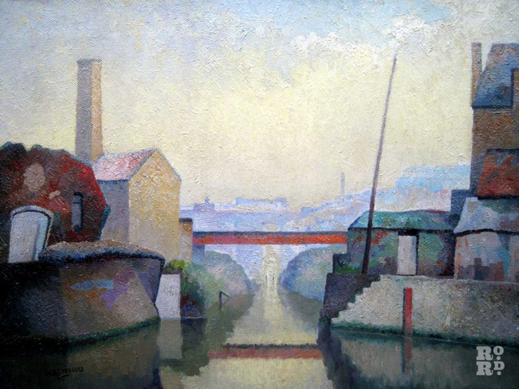 Painting of Stratford by WJ Steggles of the East London Group