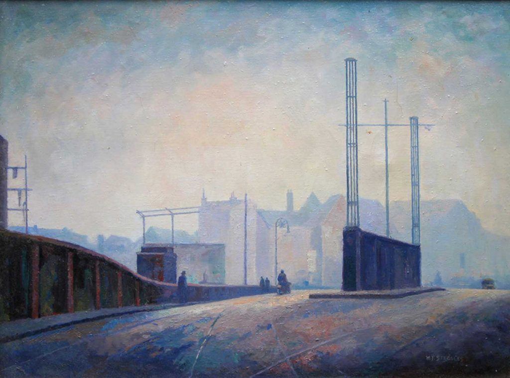 Bow Bridge painting by WJ Steggles