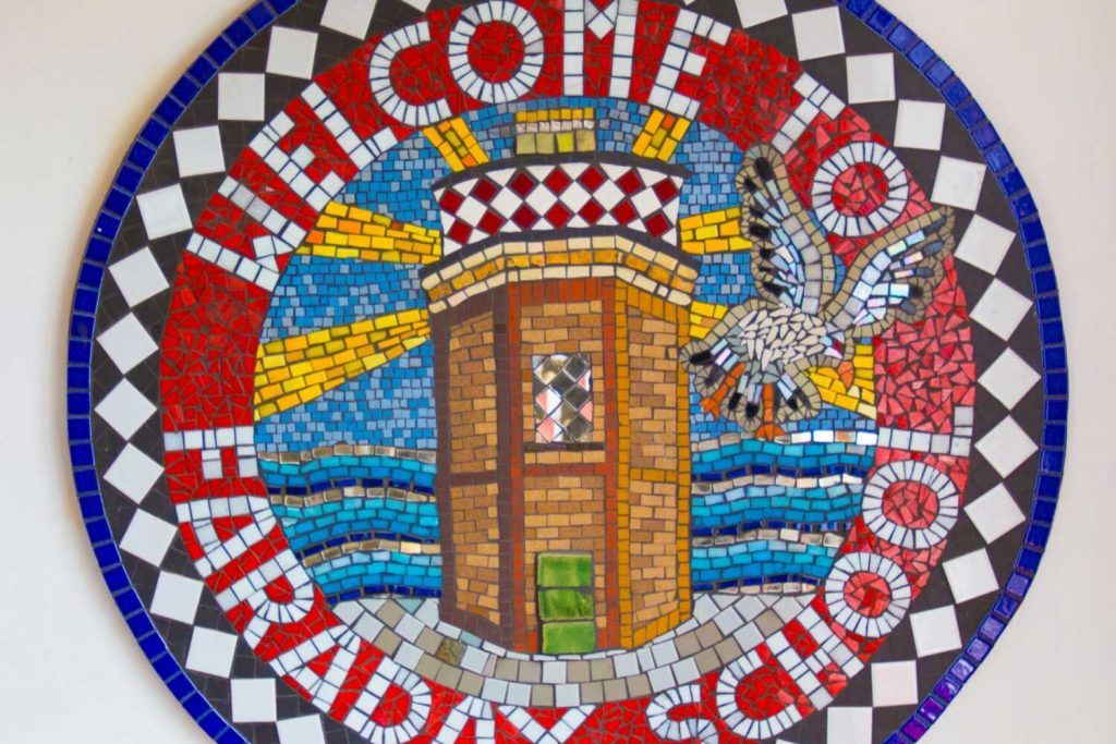 Faraday School mosaic shield