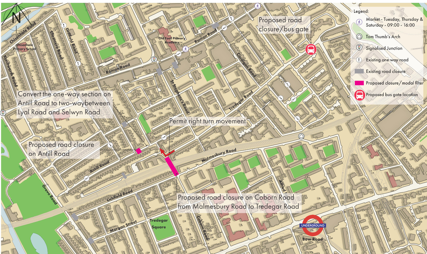 Key Bow roads to close for 8-day Liveable Streets trial | Roman Road LDN