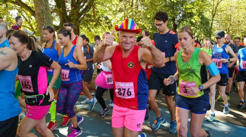 Runners at the Victoria Park 10k pride run