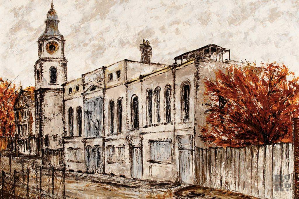 St Anne's in Limehouse, by Noel Gibson, 1968
