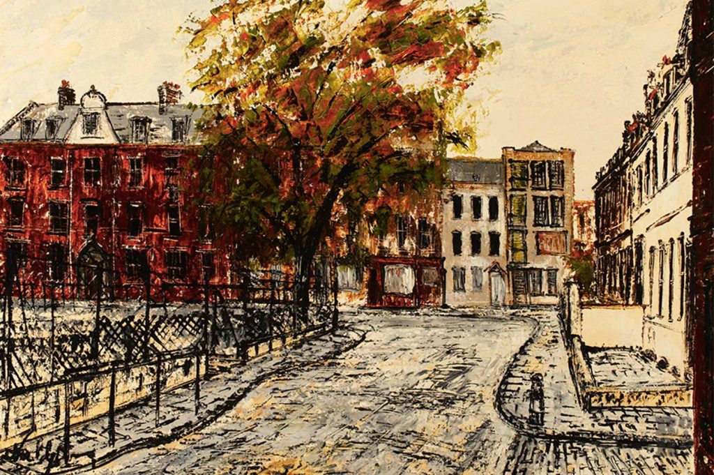 Wellclose Square in Stepney, Noel Gibson, 1967