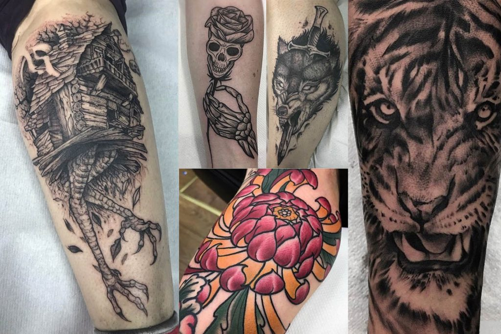 Tattoos by artists at Fleshformers studio